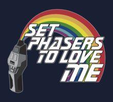 Set Phasers To Love Me Kids Tee