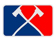 2 fire axes fire sports logo by Style-O-Mat