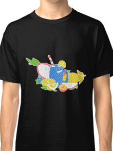 Hippie vintage style patches collection Classic T-Shirt