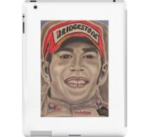 The first African man to win the British Formula One World Racing Championship in 2008 iPad Case/Skin