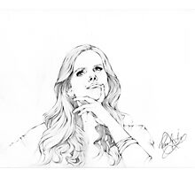 Rebecca Mader Portrait sketch Photographic Print