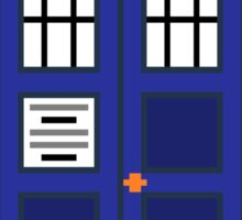 8-Bit TARDIS Sticker