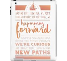 Rose Gold Keep Moving Forward Inspirational Quote from Walt Disney iPad Case/Skin