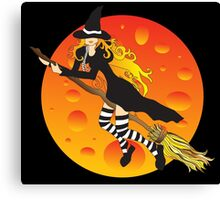 Witch&Moon Canvas Print