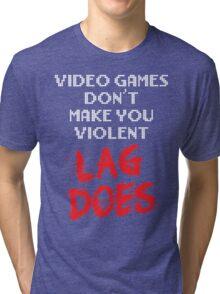 Video Games Don't Make You Violent. Lag Does. Tri-blend T-Shirt