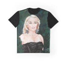 Gillian Anderson watercolor Portrait Graphic T-Shirt