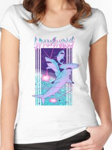 Space Sharks! Women's Fitted Scoop T-Shirt