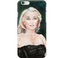 Gillian Anderson watercolor Portrait iPhone Case/Skin