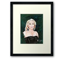 Gillian Anderson watercolor Portrait Framed Print