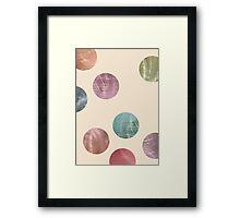 Decorative Multicolored Metallic Dots on Cream Framed Print