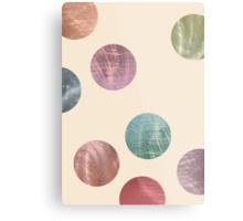 Decorative Multicolored Metallic Dots on Cream Metal Print