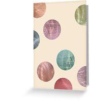 Decorative Multicolored Metallic Dots on Cream Greeting Card