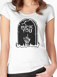 Fuck You Women's Fitted Scoop T-Shirt
