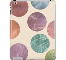 Decorative Multicolored Metallic Dots on Cream iPad Case/Skin