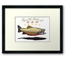 Beyond the Shadow of a trout Framed Print