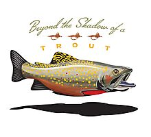 Beyond the Shadow of a trout Photographic Print
