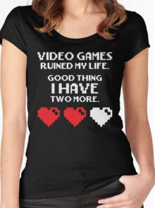 Video Games Ruined My Life Women's Fitted Scoop T-Shirt
