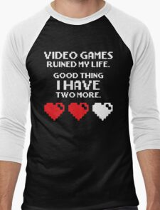 Video Games Ruined My Life Men's Baseball ¾ T-Shirt