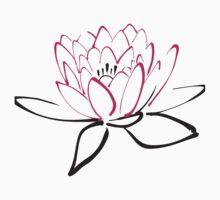 Lotus sketch One Piece - Short Sleeve