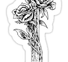 Sword and roses Sticker