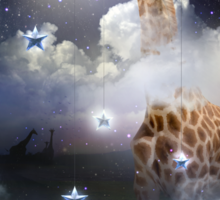 Shoot For The Moon (Giraffe In The Clouds) Sticker