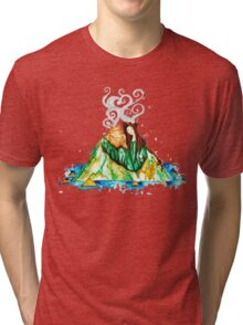 I Lava You Volcanoes in Hawaii - I Love You Tri-blend T-Shirt