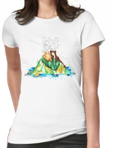 I Lava You Volcanoes in Hawaii - I Love You Womens Fitted T-Shirt