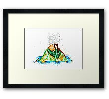 I Lava You Volcanoes in Hawaii - I Love You Framed Print