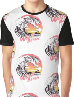 Wolf Beach Graphic T-Shirt
