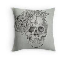 Skull & Roses Throw Pillow