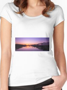 London sunrise  Women's Fitted Scoop T-Shirt
