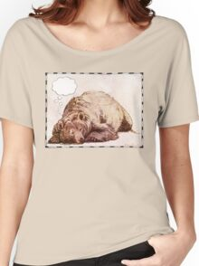 Blank Thought Bubble Bear Women's Relaxed Fit T-Shirt