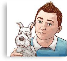 Tintin and Snowy [2] Canvas Print