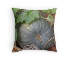 pumpkin in the garden Throw Pillow