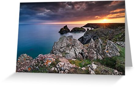 Cornwall - Kynance Sunset by Michael Breitung