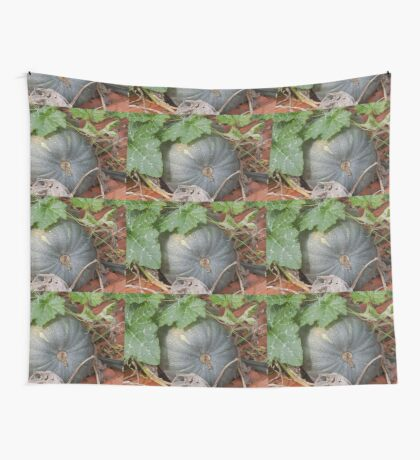 pumpkin in the garden Wall Tapestry
