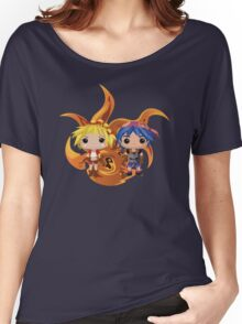Kid & Serge with Frozen Flame Women's Relaxed Fit T-Shirt