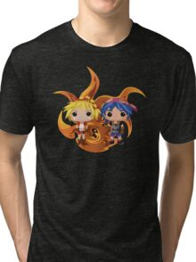 Kid & Serge with Frozen Flame Tri-blend T-Shirt