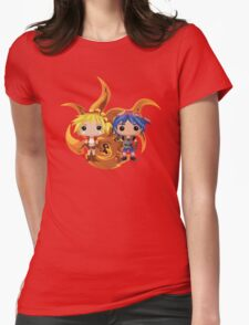 Kid & Serge with Frozen Flame Womens Fitted T-Shirt