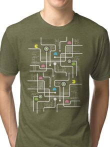 Return Of The Retro Video Games Circuit Board Tri-blend T-Shirt