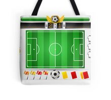 Infographic Set of Soccer Field and Icons Tote Bag