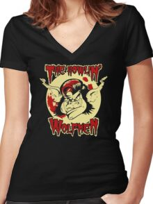 Howlin Wolfmen Women's Fitted V-Neck T-Shirt