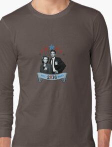 Mulder & Scully For President 2016 Long Sleeve T-Shirt