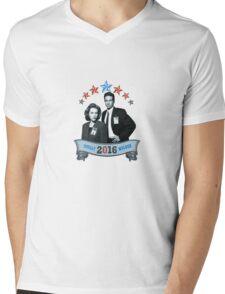 Mulder & Scully For President 2016 Mens V-Neck T-Shirt
