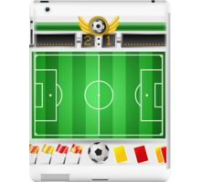 Infographic Set of Soccer Field and Icons iPad Case/Skin