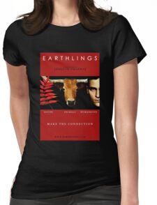 """""""Earthlings"""" Movie Cover Womens Fitted T-Shirt"""
