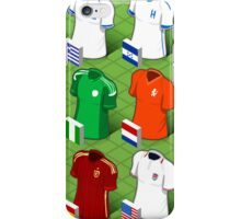 Isometric Uniforms Set of Soccer World Cup  iPhone Case/Skin
