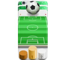 Soccer Field with Soccer Ball and Podium iPhone Case/Skin