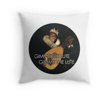 Biggie Lute Throw Pillow
