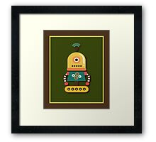 Quirky Retro Wind-up Robot Toy Framed Print